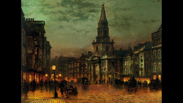 'Blackman Street, London'. John Atkinson Grimshaw, 1885