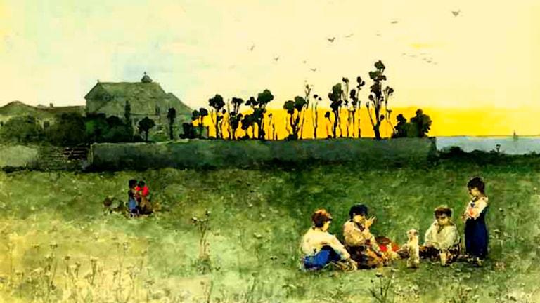'Den nedgående solen'. Wilhelm Kotarbinski (1849-1921)