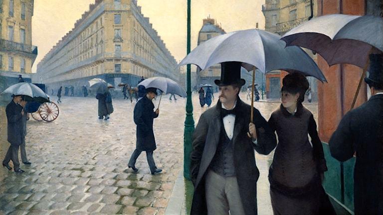 'Paris, en regnig dag'. Gustave Caillebotte, 1877