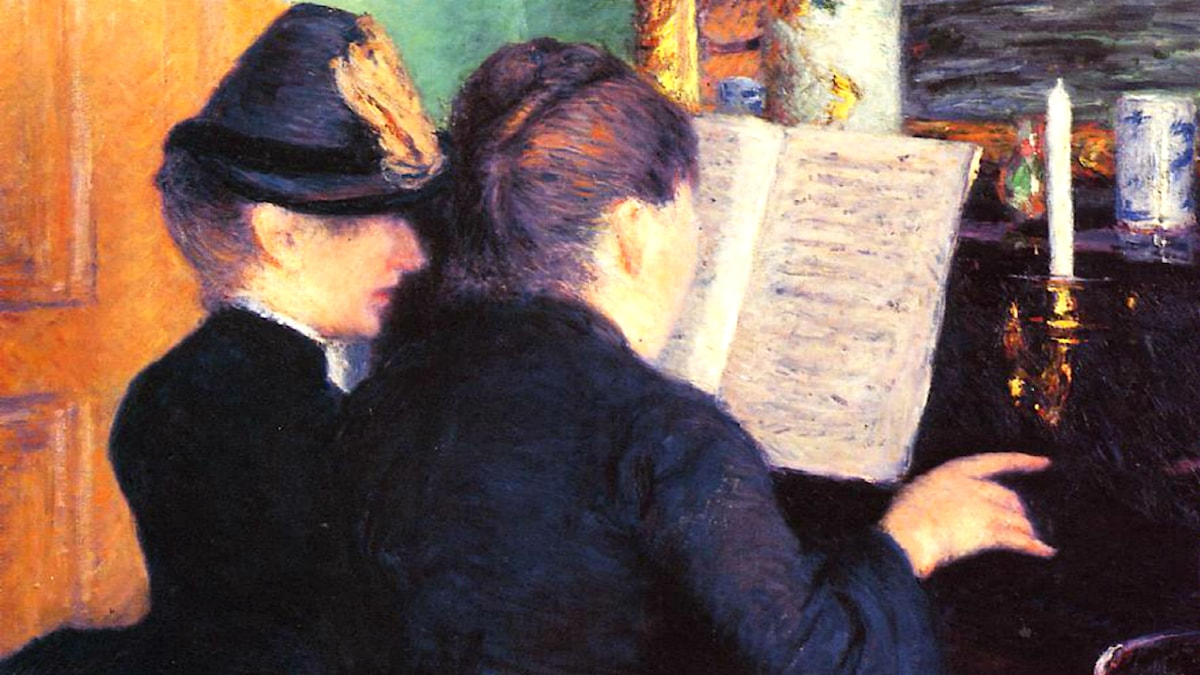 'Pianolektionen'. Gustave Caillebotte, 1881