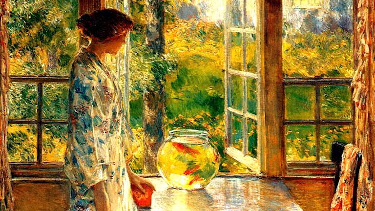 'Skål med guldfiskar'. Childe Hassam, 1912