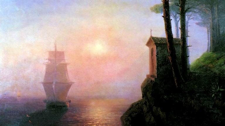 'Dimmig morgon i Italien'. Ivan Aivazovsky, 1864