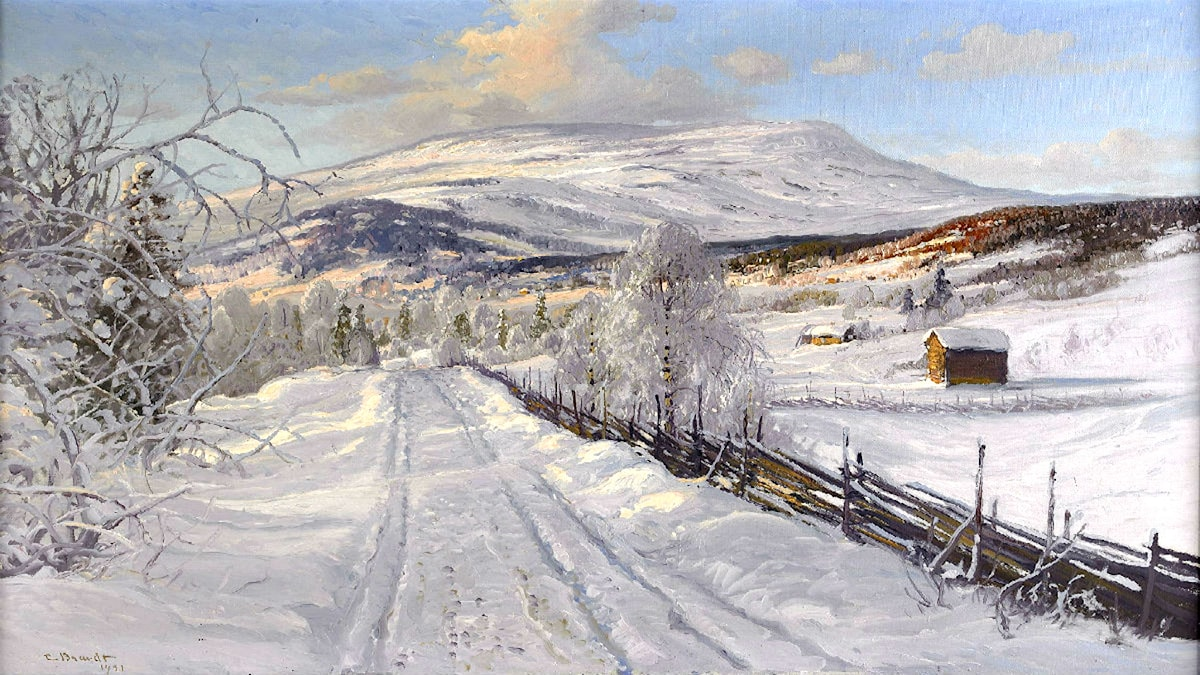 'Åreskutan'. Carl Brandt, 1921