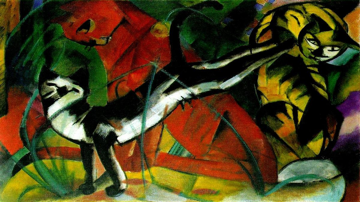 'Tre katter'. Franz Marc, 1913