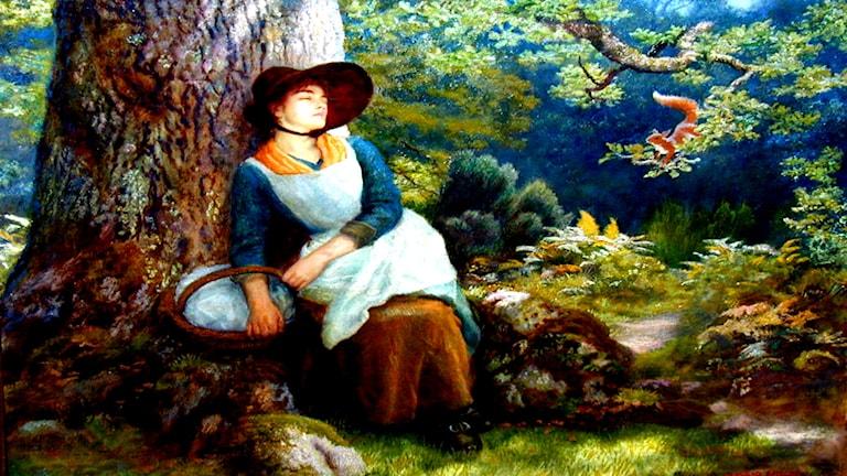 'Tupplur i skogen'. Arthur Hughes (1832-1915)