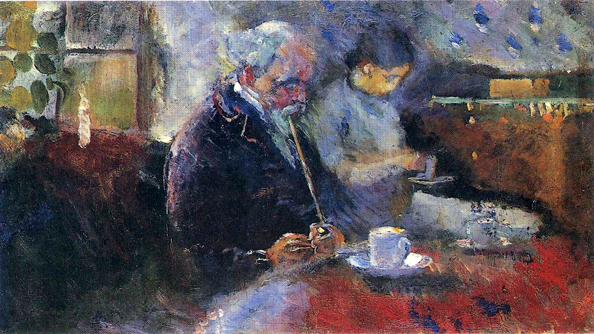 'At the Coffee Table'. Edvard Munch, 1883