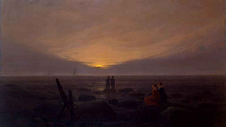 'Skymning vid havet'. Caspar David Friedrich, 1819
