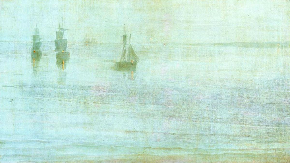 'Nocturne - Solentsundet'. James McNeill Whistler, 1866