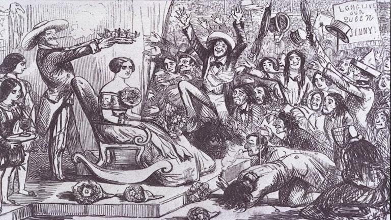 """""""Tournee mit Jenny Lind"""". P T Barnum, 1850/1852."""