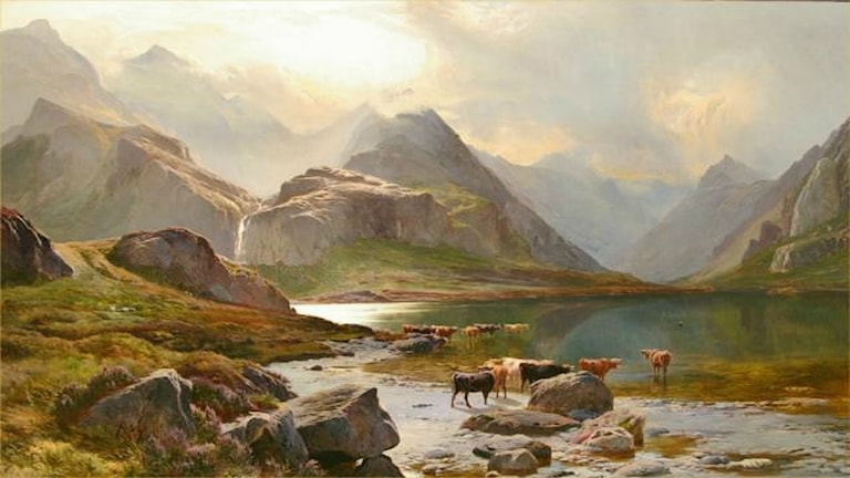 """Loch Coruisk, Isle of Skye"". Sidney Richard Percy (1821-1886)."