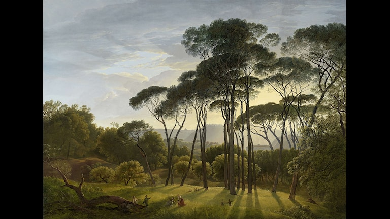 Hendrik Voogd - Italian landscape with Umbrella Pines Bild: Wiki Commons Art