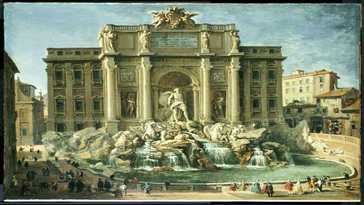 'La fontana di Trevi, Rome'. Giovanni Paolo Pannini (1692–1765)