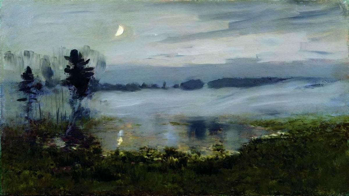 'Dimma över vatten'. Isaac Levitan, 1895