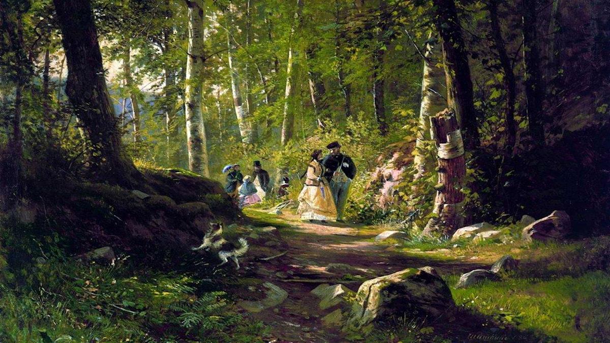 'En skogspromenad'. Ivan Shishkin, 1869