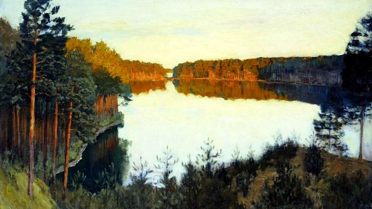 'Skogssjö'. Isaac Levitan, 1895