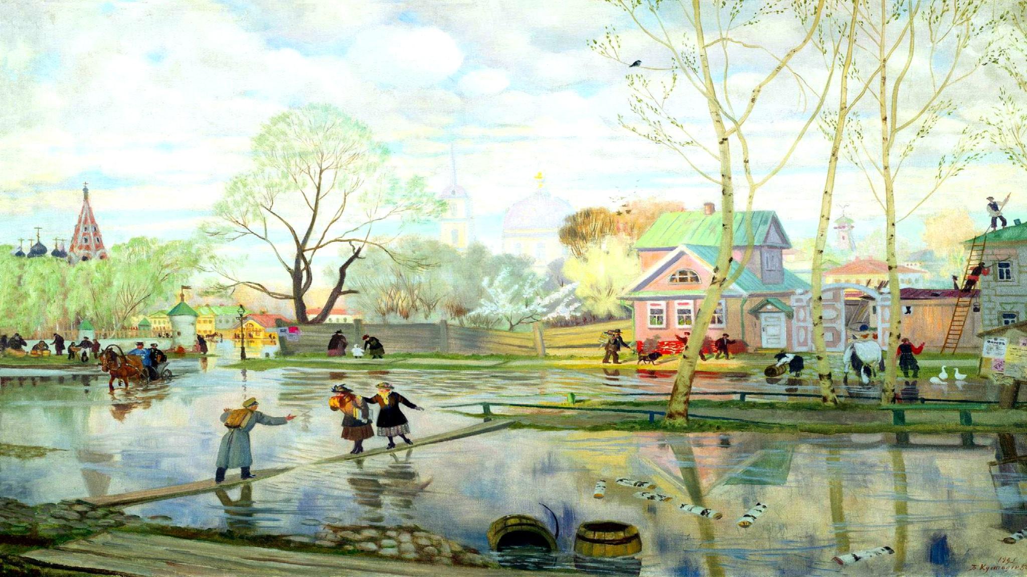 'Vår'. Boris Kustodiev, 1921