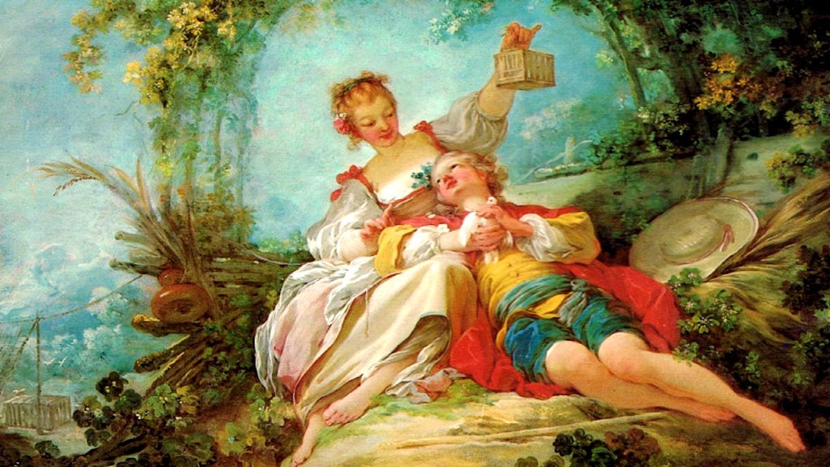 'De lyckliga älskande'. Jean-Honore Fragonard, 1765