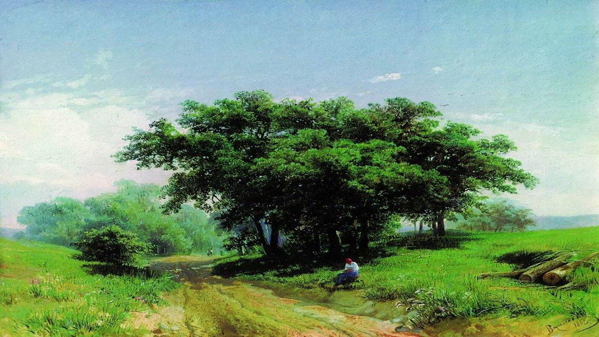 'Het sommardag'. Fyodor Vasilyev, 1869
