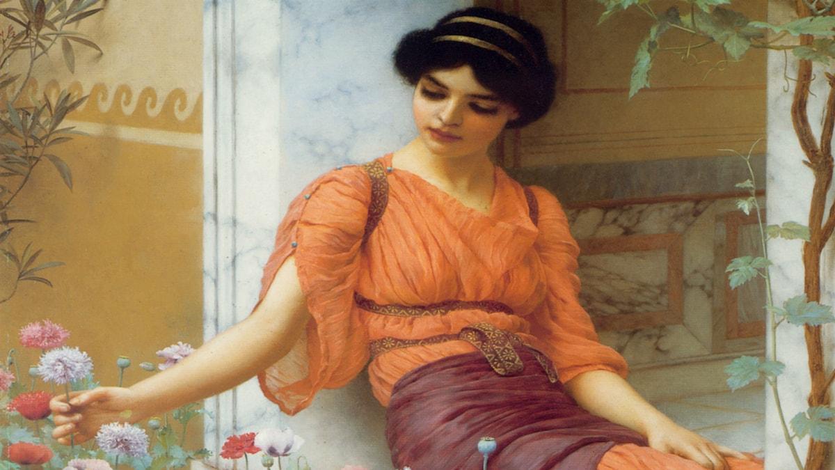 'Sommarblommor'. John William Godward, 1903