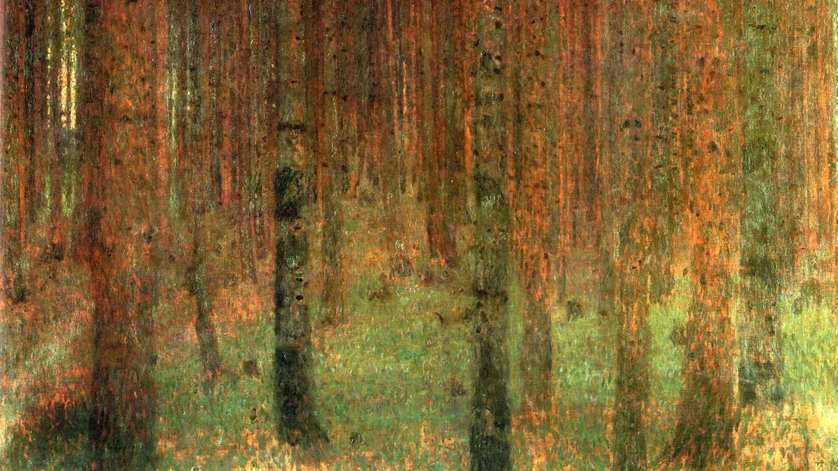 Gustav Klimt: Tallskog II  (1901)