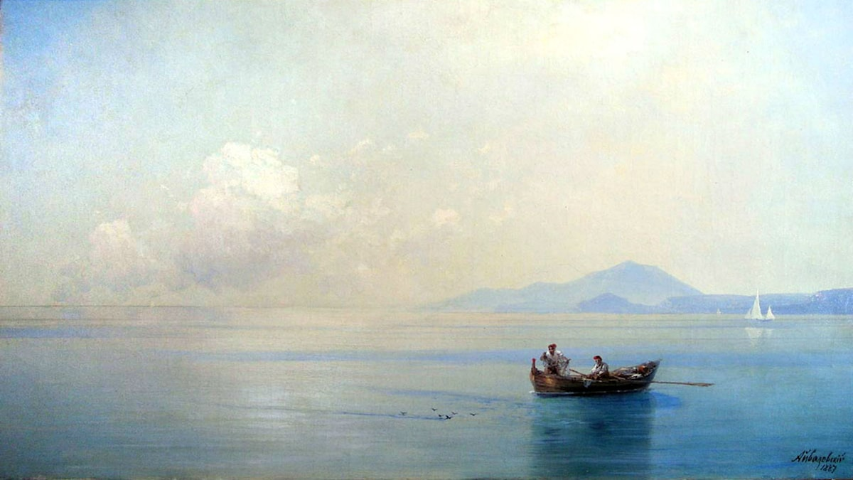 'Stilla hav'. Ivan Aivazovsky, 1887