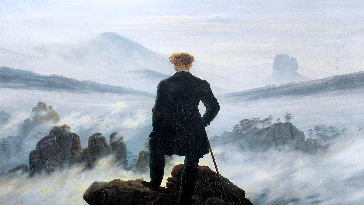 'Vandraren'. Caspar David Friedrich, 1818