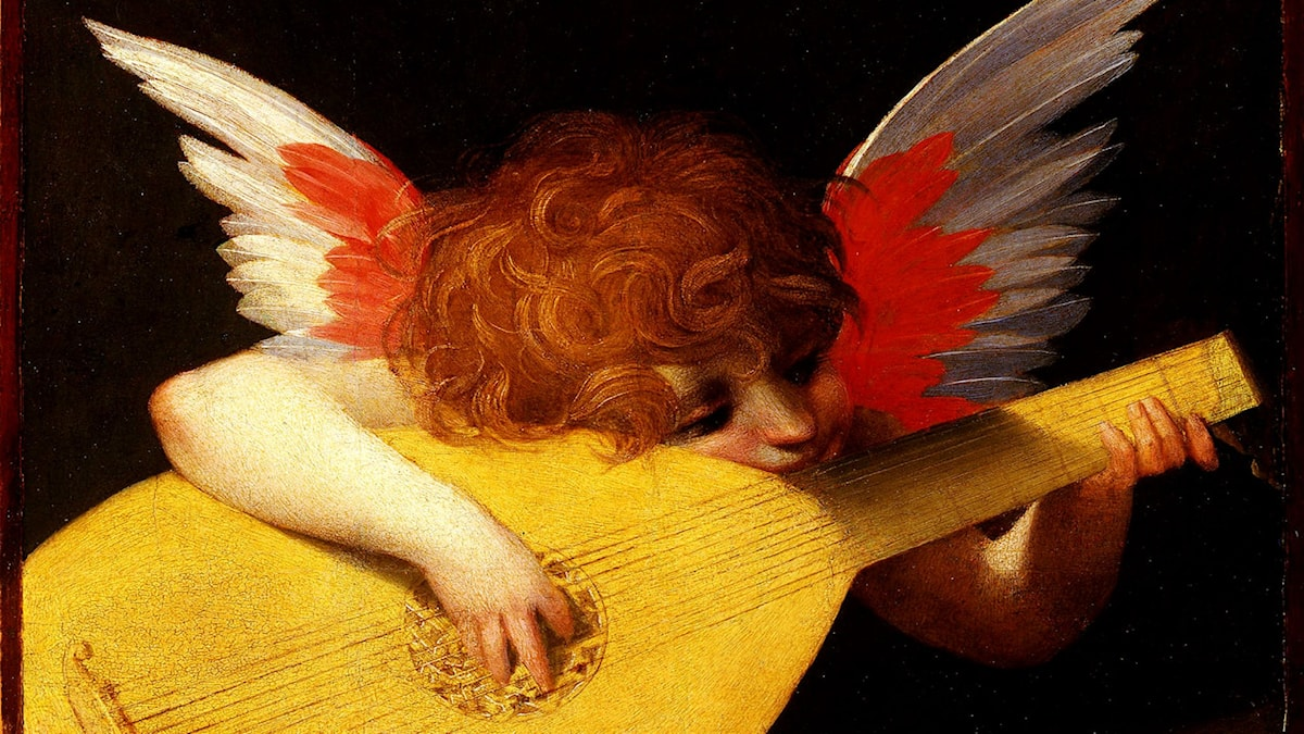 Playing putto (Musician Angel). Rosso Fiorentino, 1518