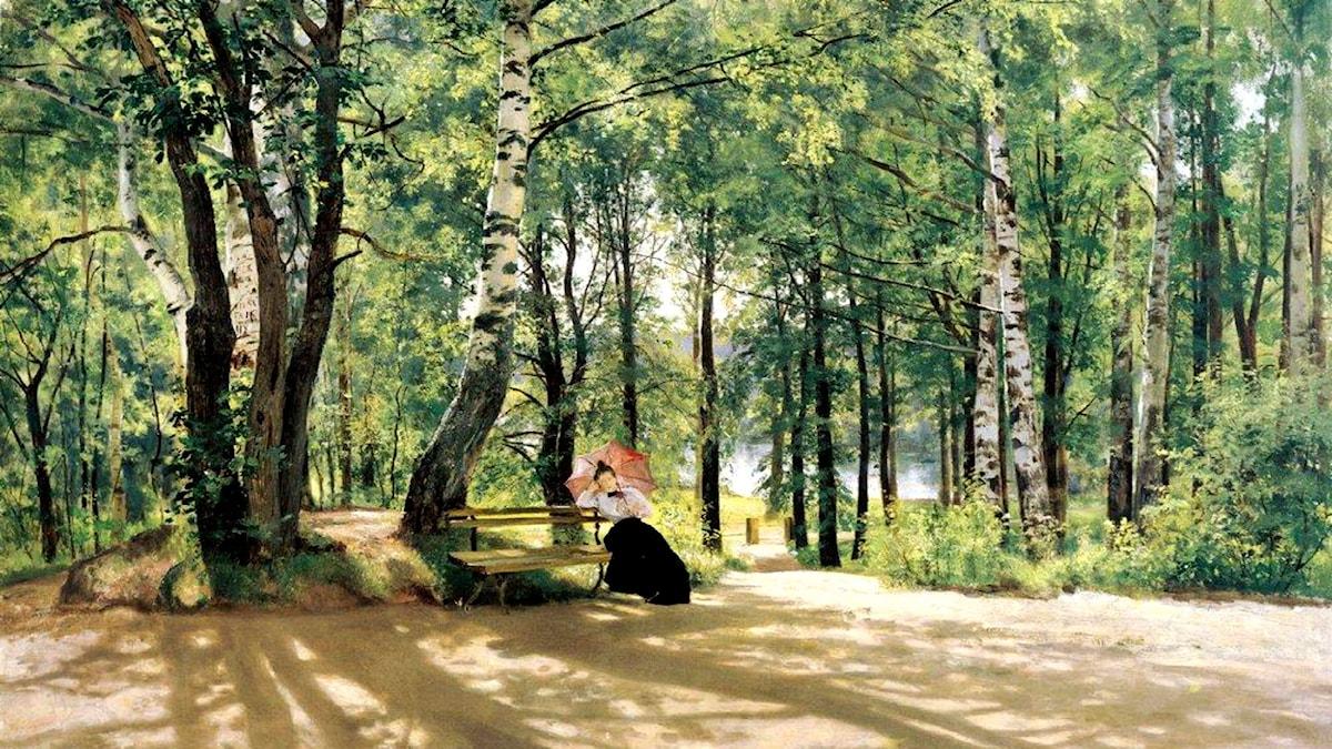'Vid sommarstugan'. Ivan Shishkin, 1894