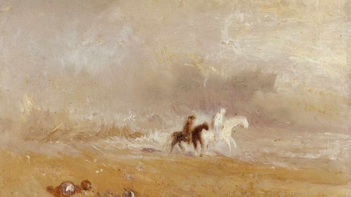 'Ryttare på stranden'. William Turner, 1835