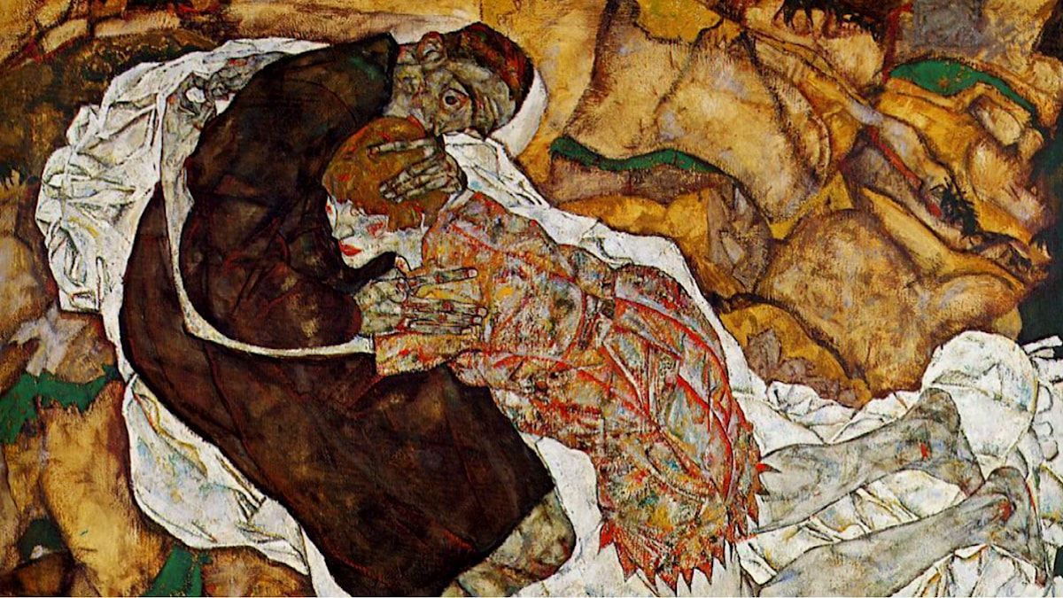 'Der Tod und das Mädchen'. Egon Schiele, 1915
