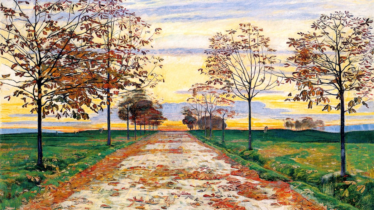 'Höstkväll'. Ferdinand Hodler, 1892