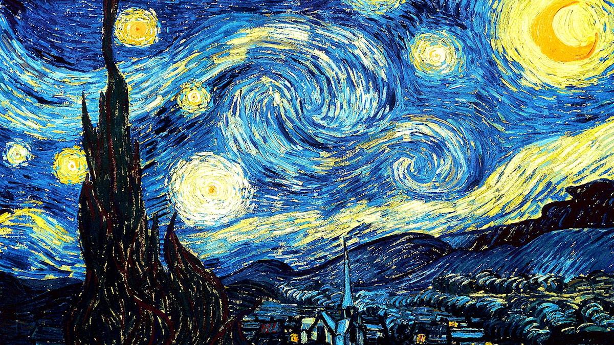'Stjärnklar natt'. Vincent van Gogh, 1889