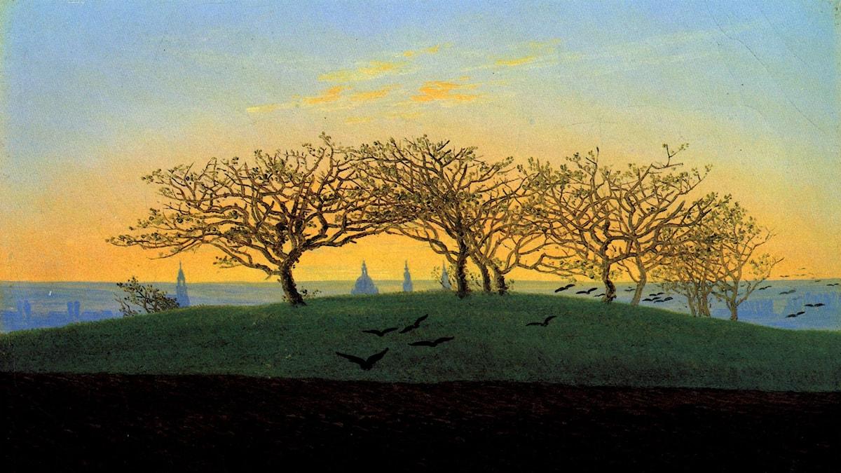 'Kullar och åkrar nära Dresden'. Caspar David Friedrich (1774-1840)