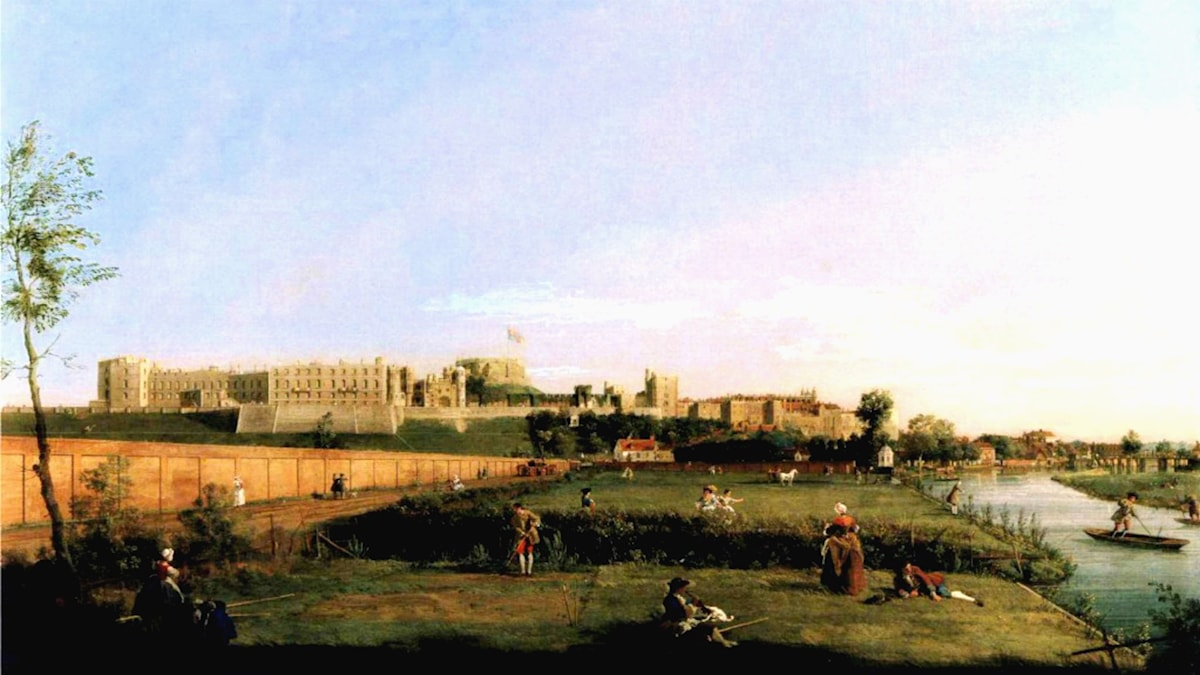 'Windsor Castle'. Giovanni Antonio Canal, 1747