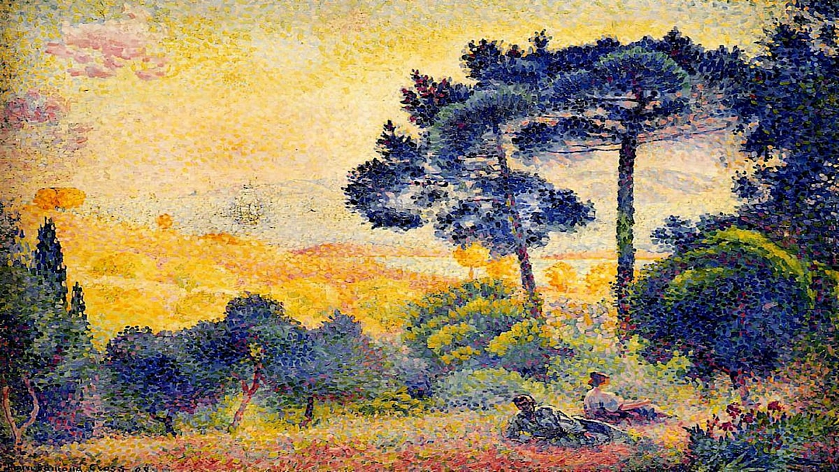 'Provencalskt landskap'. Henri-Edmond Cross, 1898