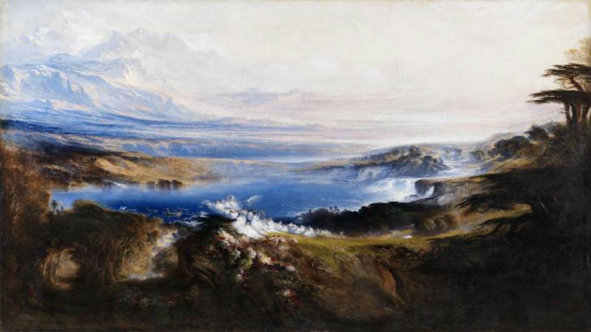 'Himmelens slätter'. John Martin, 1853