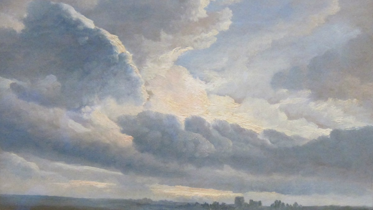 Study of Clouds with a Sunset near Rome. Simon Denis 1755-1813.