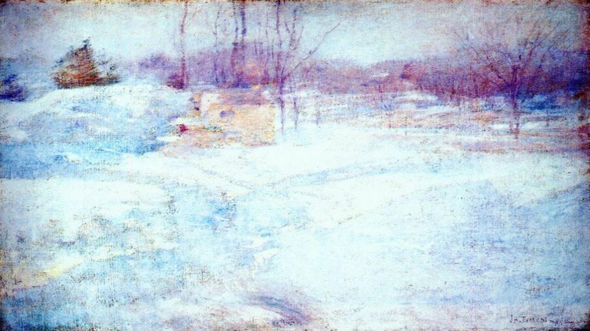 'Vinter'. John Henry Twachtman, 1890