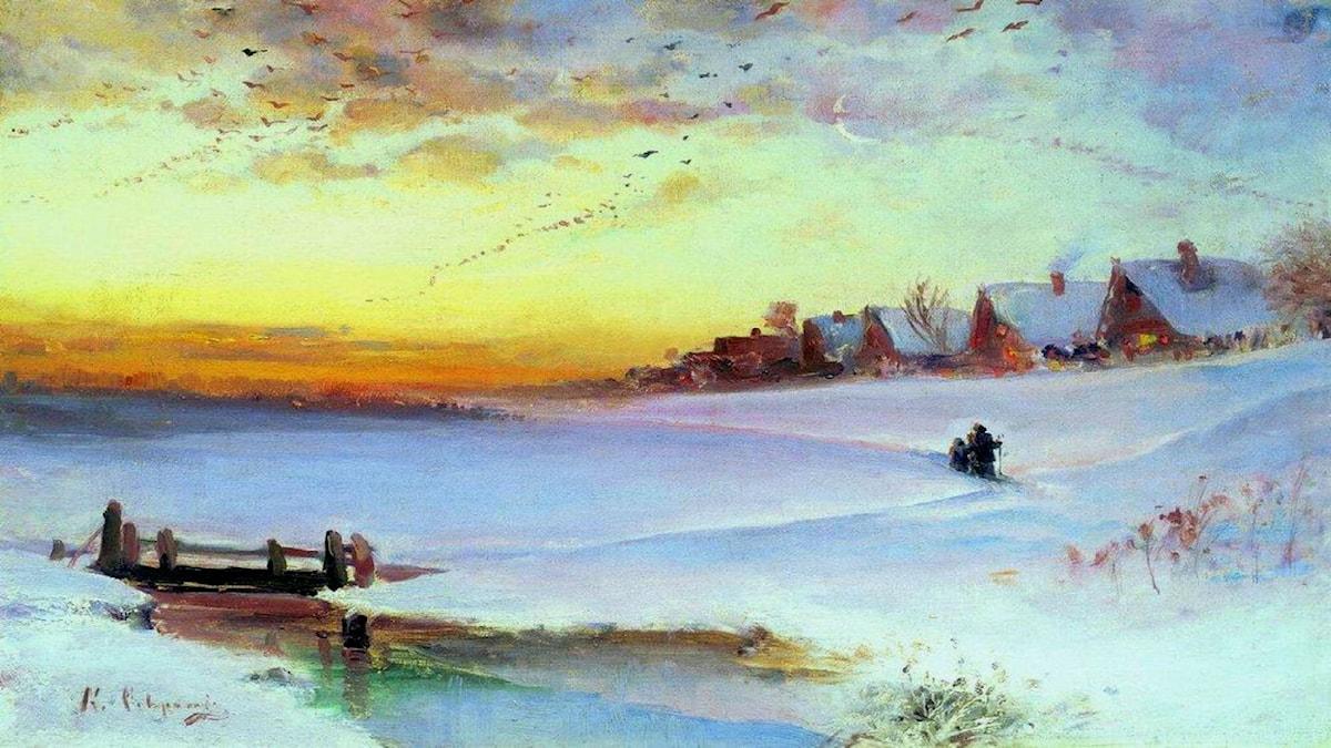 'Vinterlandskap'. Aleksey Savrasov, 1890