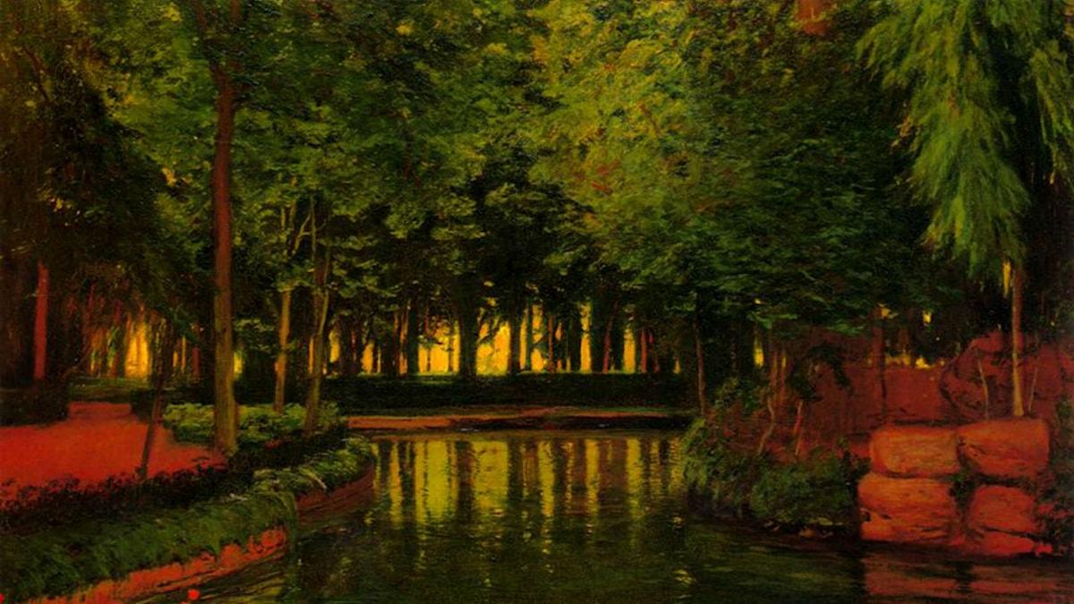'Aranjuez trädgårdar'. Santiago Rusinol (1861-1931)