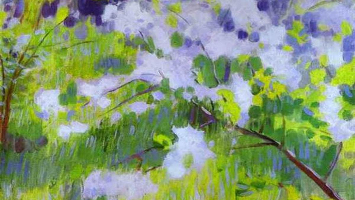 """""""Blommande körsbärsträd"""". Victor Borisov-Musatov, 1901"""