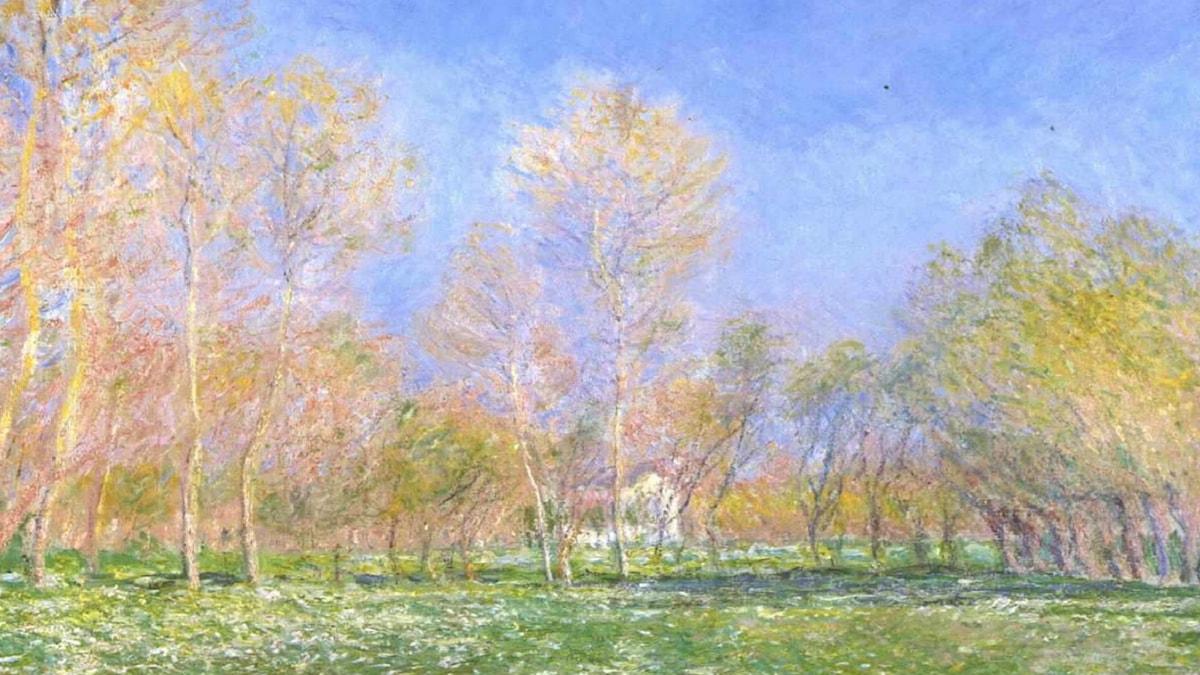 'Vår i Giverny'. Claude Monet (1890).