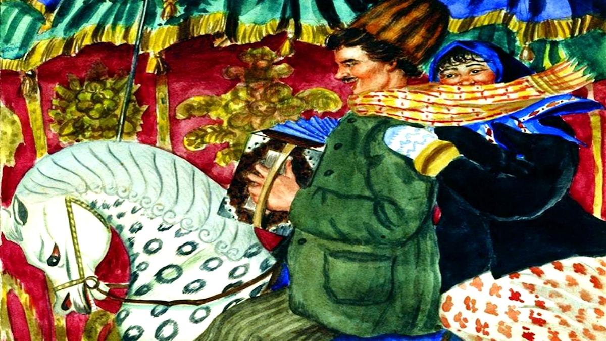 """""""Karusell"""". Boris Kustodiev, 1920"""