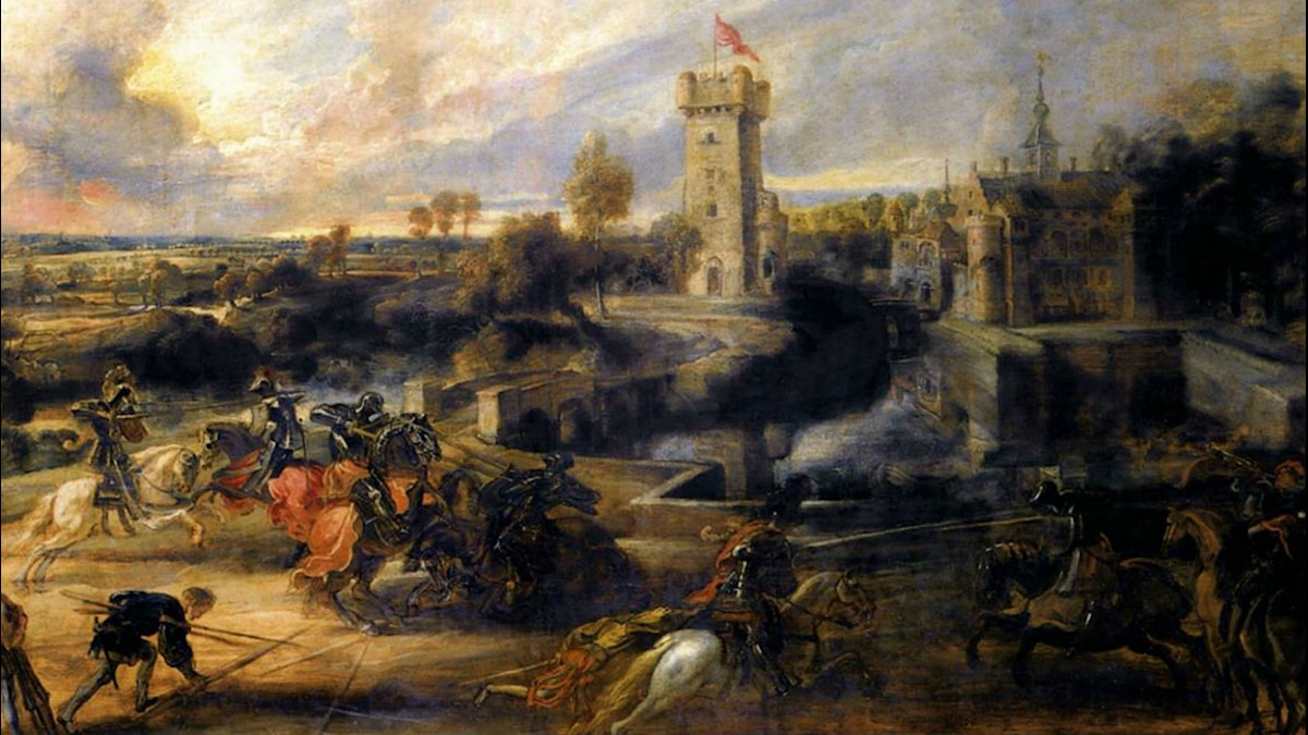 Tournament in front of Castle Steen. Peter Paul Rubens (1635-1637)