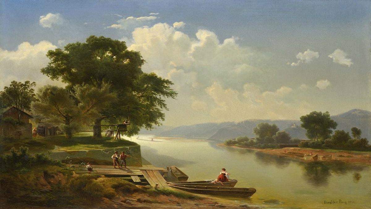 'Vltava från Prag'. Vojtěch Adalbert Brechler (1826-1891).