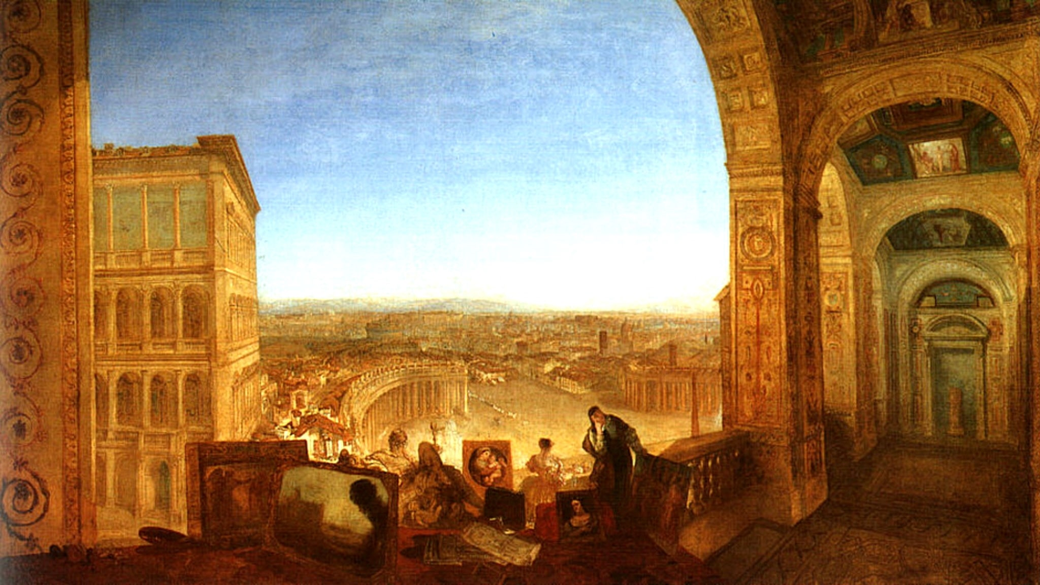 """""""Rome from the Vatican. William Turner, 1820"""