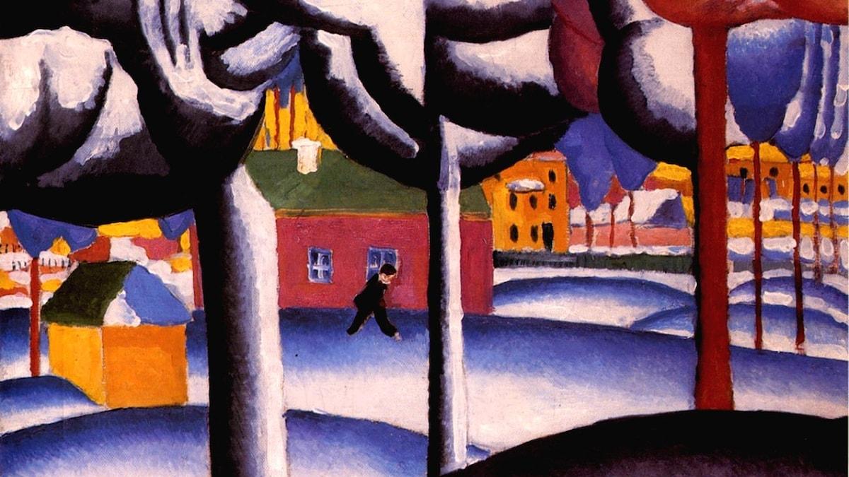 Vinterlandskap. Kazimir Malevich, ca 1930.