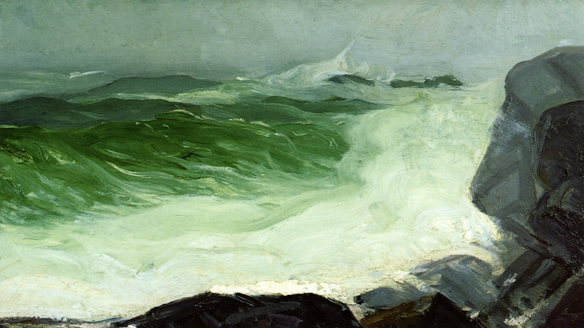 'Grått hav'. George Bellows (1913).