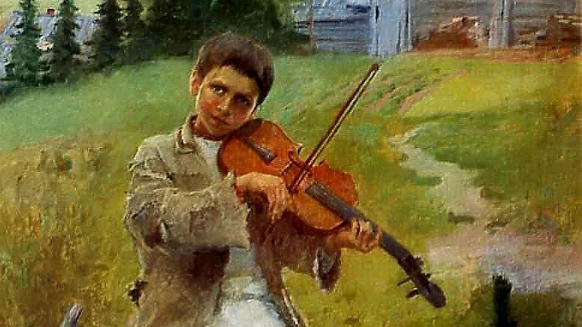 Nikolaj Bogdanov-Belsky: Pojke med fiol (1897)