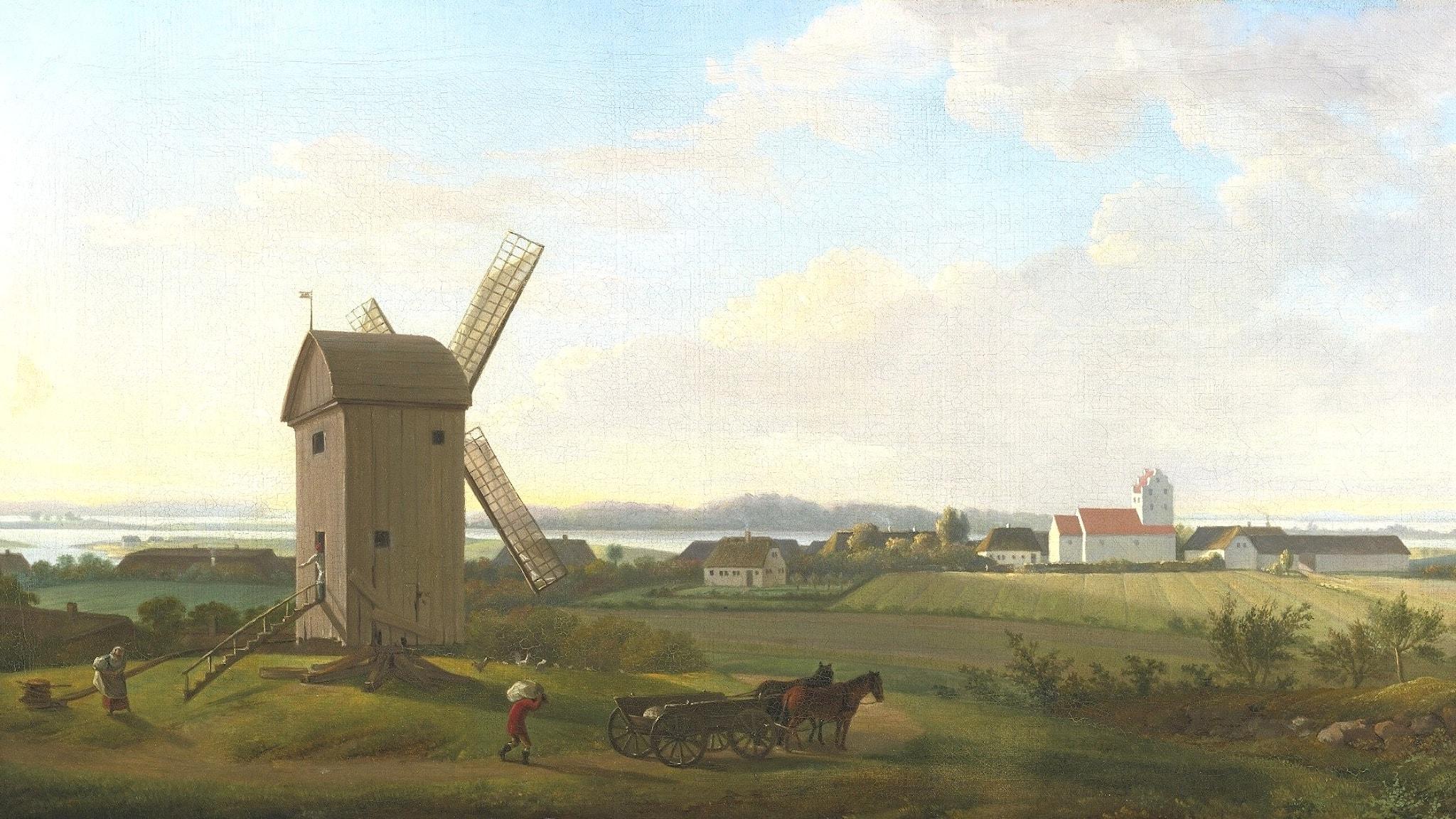 Utsikt mot Gamborg på Fyn (Jesper Juel 1745-1802).
